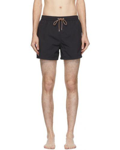 Нейлоновые черные шорты для плаванья с карманами Paul Smith