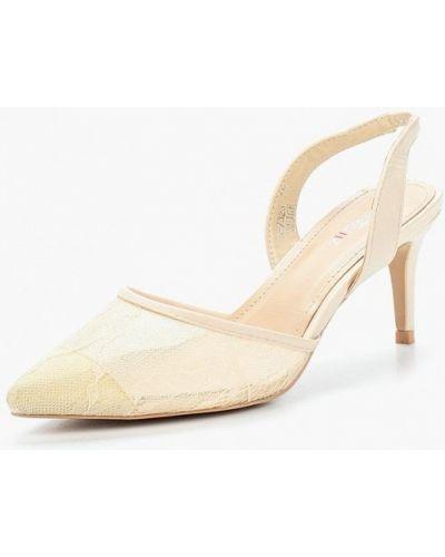 Кожаные туфли с открытой пяткой на каблуке Marquiiz