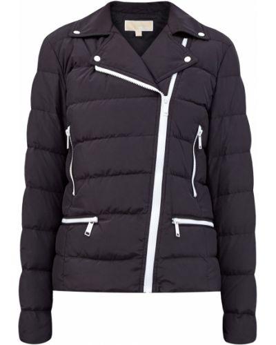 Нейлоновая черная куртка на кнопках с сеткой Michael Michael Kors