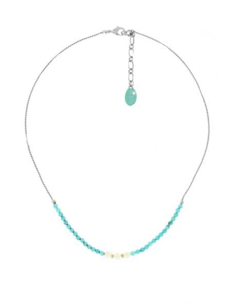 Бирюзовое ожерелье с жемчугом Nature Bijoux