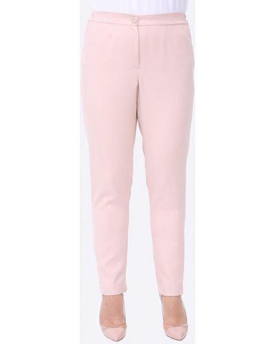Прямые розовые брюки Luxury Plus