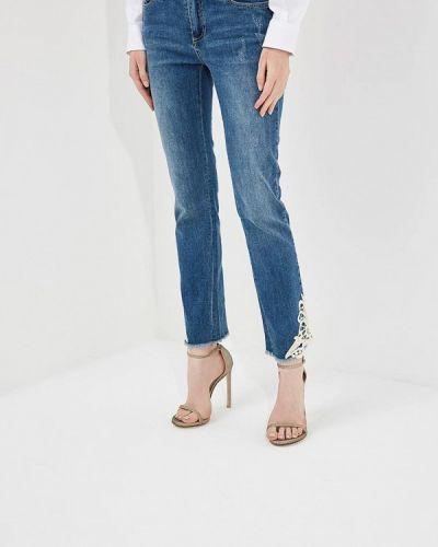 Голубые джинсы-скинни Armani Exchange