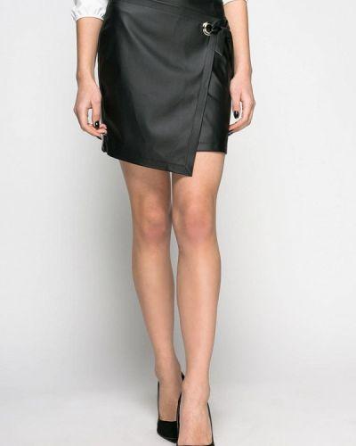 Кожаная юбка черная Zubrytskaya