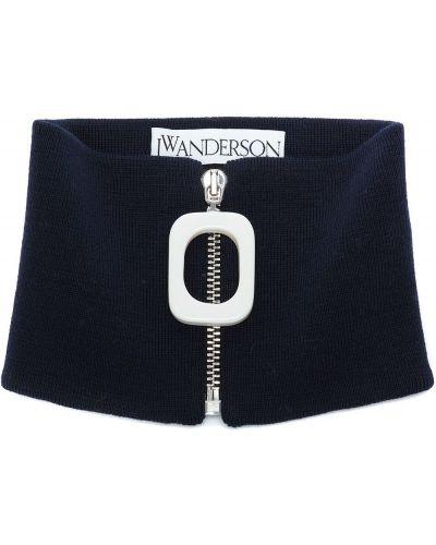 Niebieski szalik wełniany Jw Anderson