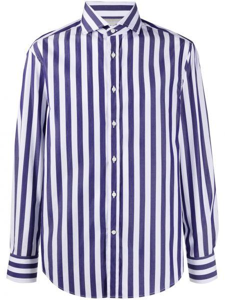 Koszula z długim rękawem klasyczna niebieski Brunello Cucinelli