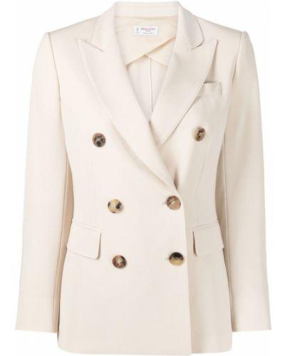 Удлиненный пиджак двубортный с карманами на пуговицах Alberto Biani