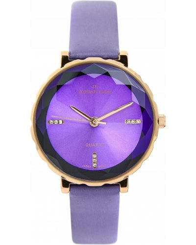 Fioletowy klasyczny zegarek skórzany Jordan Kerr