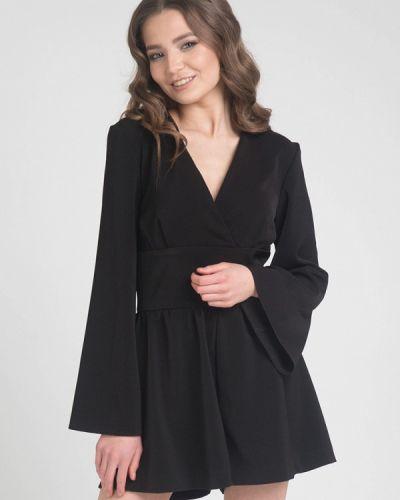 Черный комбинезон с шортами Cauris