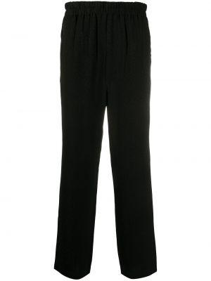 Прямые черные брюки с карманами Roberto Cavalli