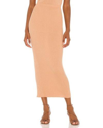 Шелковая юбка миди Lpa