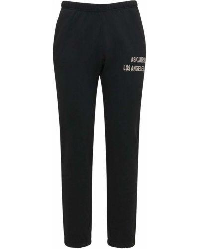 Czarne spodnie dresowe bawełniane Askyurself