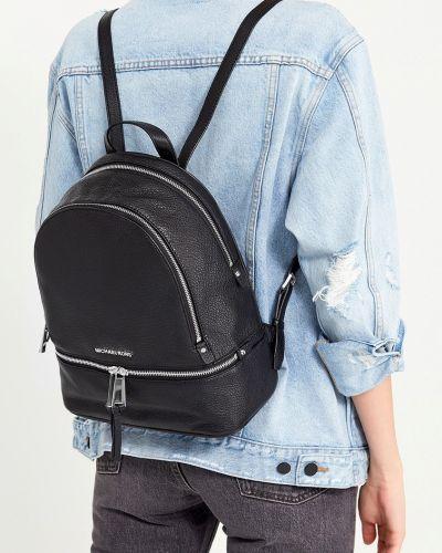 Кожаный рюкзак однотонный на молнии Michael Michael Kors