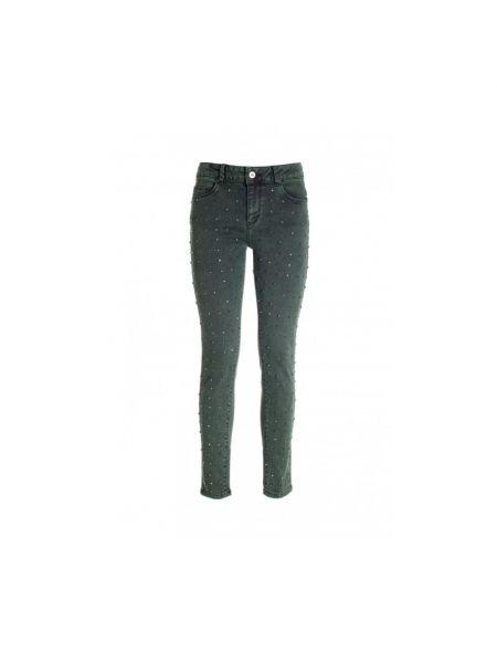Zielone mom jeans Fracomina
