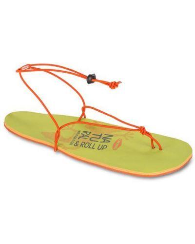 Оранжевые сандалии Lizard