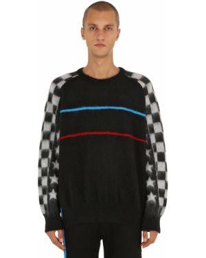 Prążkowany czarny sweter wełniany Facetasm