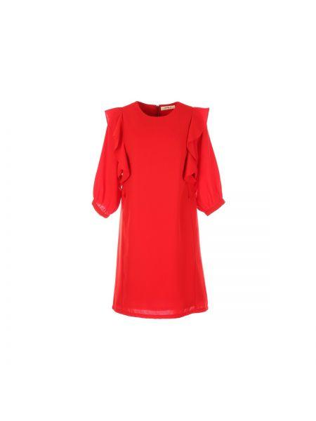 Платье мини с длинными рукавами с оборками Rene Derhy