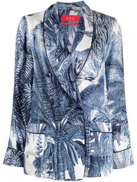 Однобортный синий удлиненный пиджак на пуговицах F.r.s. For Restless Sleepers