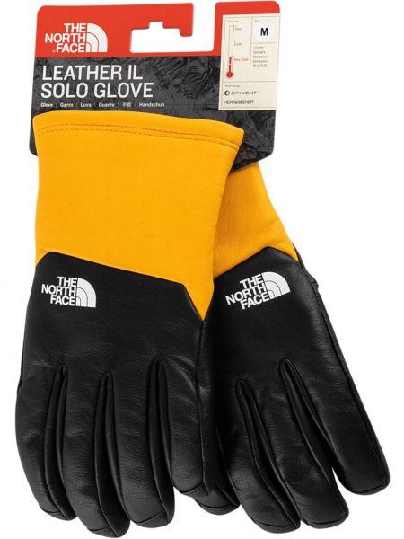 Ciepłe czarne rękawiczki skorzane Supreme