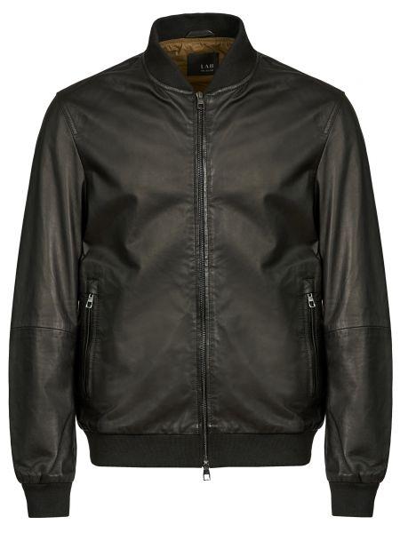 Кожаная куртка на молнии - черная Lab. Pal Zileri
