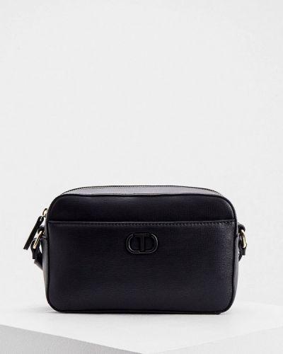 Черная кожаная сумка Twinset Milano