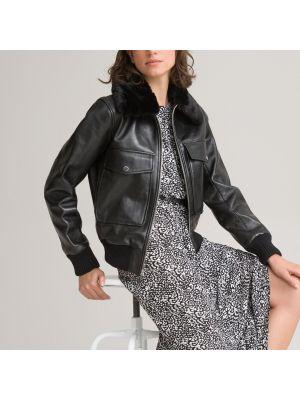 Черная куртка с мехом Laredoute