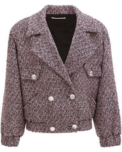 Фиолетовая куртка двубортная на кнопках Alessandra Rich