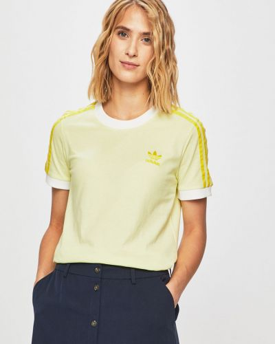 Футболка желтый однотонный Adidas Originals