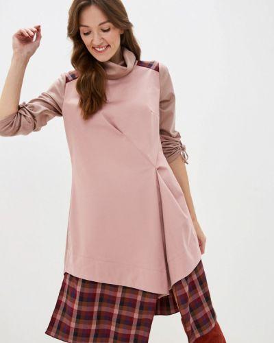 Прямое розовое платье Adzhedo