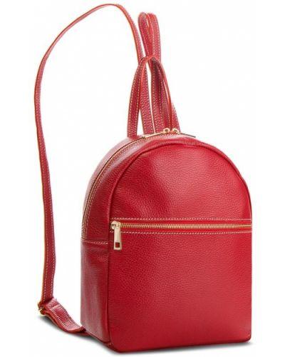 Skórzany plecak czerwony Creole