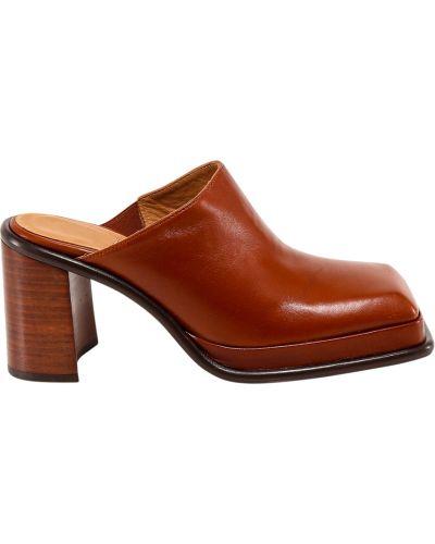 Brązowe sandały Miista