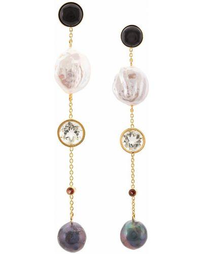 Черные серьги-гвоздики Lizzie Fortunato Jewels