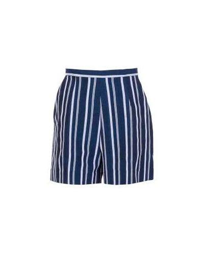 Городские хлопковые синие шорты Stella Jean