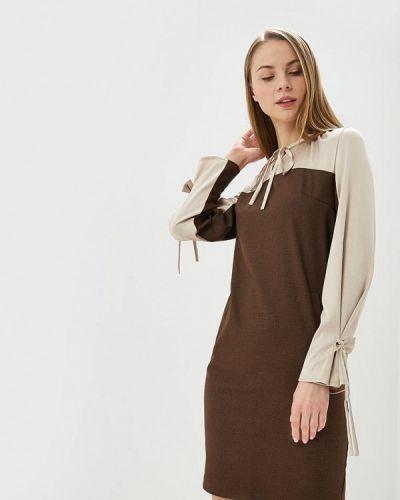 Коричневое прямое платье Adzhedo