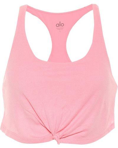 Różowy biustonosz sportowy vintage Alo Yoga