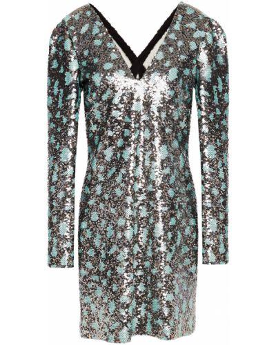 Шелковое платье мини - мятное Roberto Cavalli
