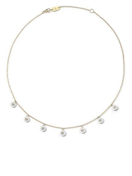 Золотистое ожерелье золотое с бриллиантом Ippolita