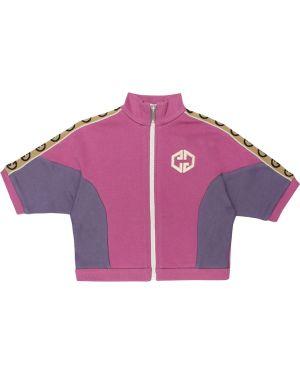Розовая спортивная куртка Gucci Kids
