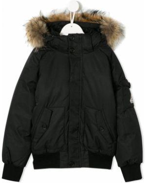 Черная куртка из енота Pyrenex Kids