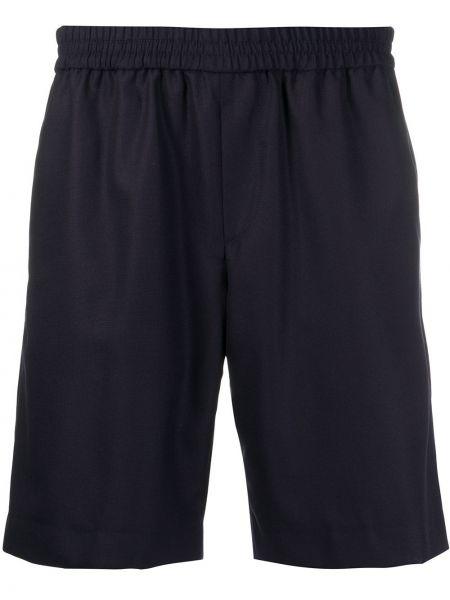 Спортивные синие прямые спортивные шорты с карманами Harmony Paris