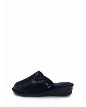 Кожаные тапочки - синие Spesita