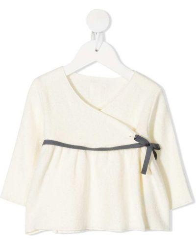 Белое платье макси с запахом с вырезом Douuod Kids