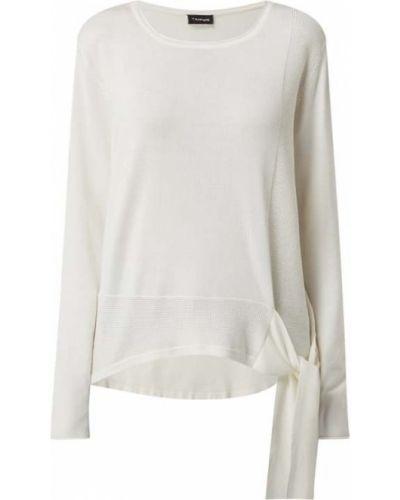 Biały sweter z wiązaniami Taifun