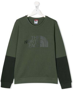 Зеленый свитшот The North Face Kids