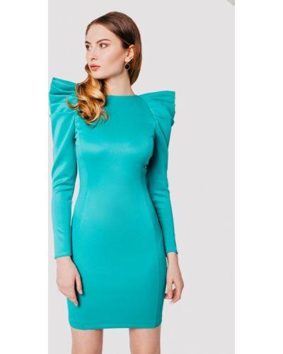 Вечернее платье бирюзовый осеннее Krismarin