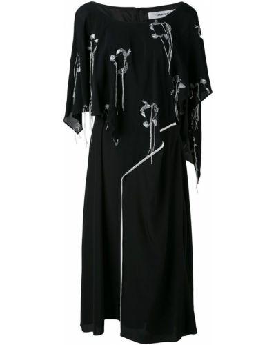 Платье свободного кроя - черное Chalayan