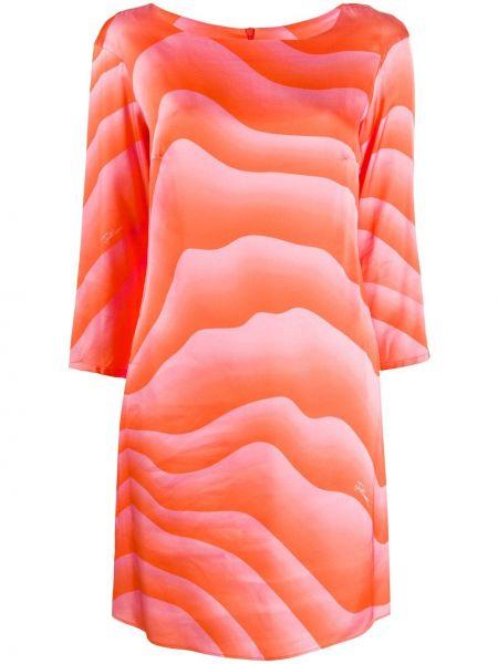 Платье макси трапеция с длинными рукавами с поясом Just Cavalli