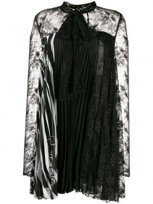 Ажурное черное платье макси с вырезом Philipp Plein