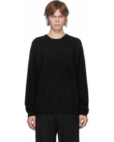 Z kaszmiru czarny długi sweter z długimi rękawami Frenckenberger