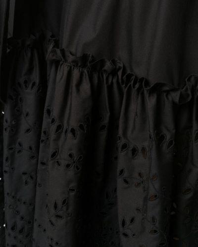 Хлопковое черное платье без рукавов P.a.r.o.s.h.