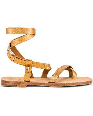 Żółte sandały skorzane klamry Alumnae